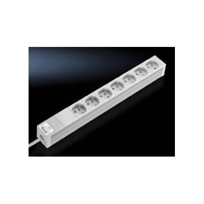 Rittal Socket strips in an aluminium duct Stekkerdoos - Wit