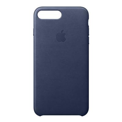 Apple mobile phone case: Leren hoesje voor iPhone 8 Plus/7 Plus - Middernachtblauw