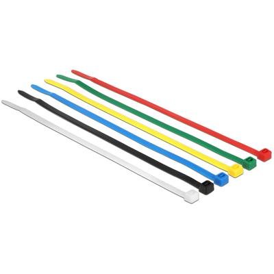 DeLOCK 18626 Kabelbinder - Zwart, Blauw, Groen, Rood, Transparant, Geel