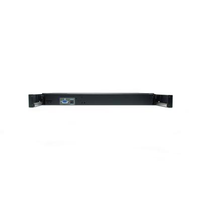 LevelOne KVM-8901ES - QWERTY Rack console - Zwart