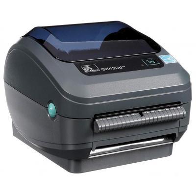 Zebra GX420d DT - USB - Ethernet - Afpelsysteem Labelprinter - Grijs