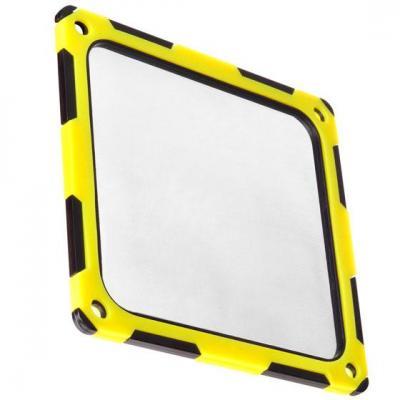 Silverstone cooling accessoire: SST-FF124BY - Black & Yellow, ABS & silicone, 120mm fan mounts - Zwart, Geel
