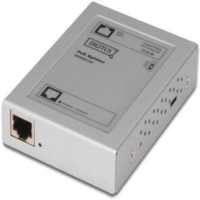 Digitus netwerk splitter: PoE Splitter, 802.3af, Output: 5V 2A, 7.5V 1.4A, 9V 1.2A & 12V 0.9A; PoE(RJ45) input jack, .....