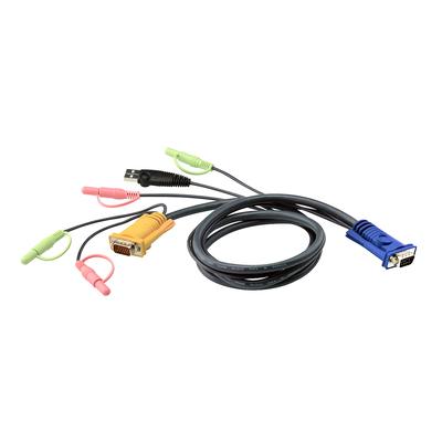 Aten 5M USB met 3 in 1 SPHD en Geluid KVM kabel - Zwart