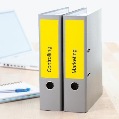 Herma etiket: File labels A4 192x61 mm yellow paper matt opaque 80 pcs. - Geel