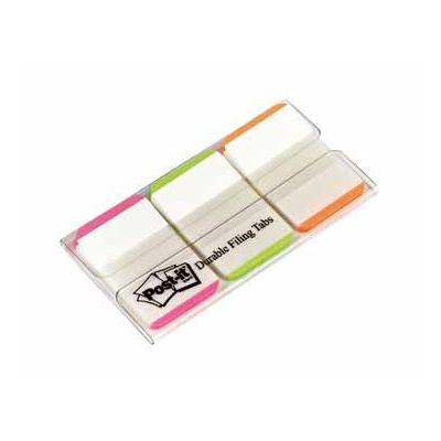 Post-it indextab: Index Filing tabs 3 x 22 tabs, roze, groen en oranje
