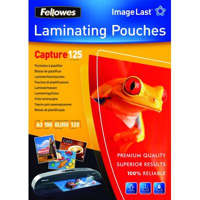 Fellowes ImageLast 125 micron lamineerhoes glanzend A3-100pk Laminatorhoes - Transparant