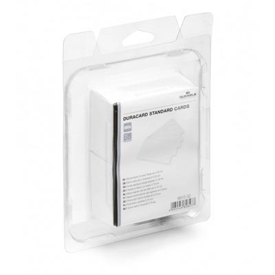 Durable 8915-02 Lege plastic kaart - Wit