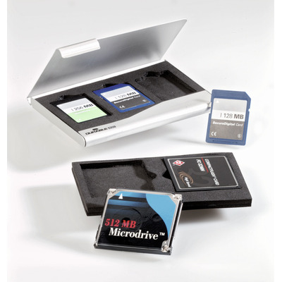 Durable Memory Card Box - Zilver