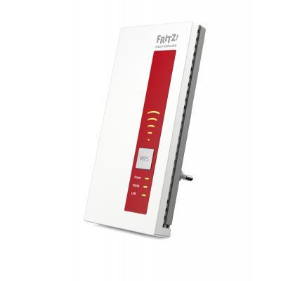 Avm wifi-versterker: FRITZ!WLAN Repeater 1750E, DE - Rood, Wit