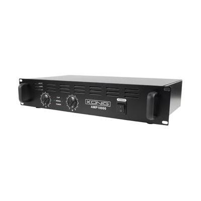 König audio versterker: 2 x 500W, 95dB(A), Zwart