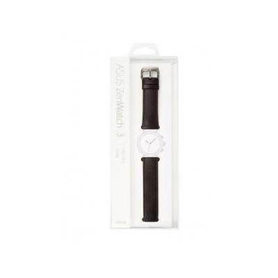 Asus horloge-band: ZenWatch 3 strap (WI503Q) Leather Dark Brown - Bruin