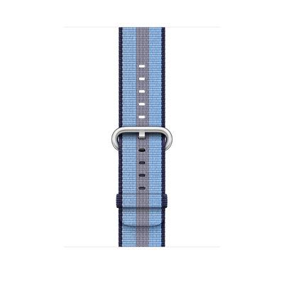 Apple : Bandje van geweven nylon - Middernachtblauw (gestreept, 42 mm)