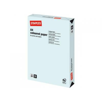 Staples papier: Papier SPLS A4 160g lichtblauw/pak 250v