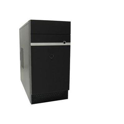 Lc-power behuizing: Micro-ATX-Tower, 2x USB 3.0, metal, 3.68 kg - Zwart