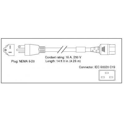 Cisco electriciteitssnoer: Power Cord for UCS 5108, Japan and North America, Spare