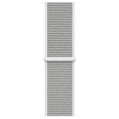 Apple Geweven sportbandje - Schelpenwit (40 mm) - Grijs, Zilver