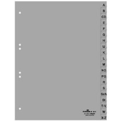 Durable 297 x 215/230 mm, A-Z Indextab - Grijs