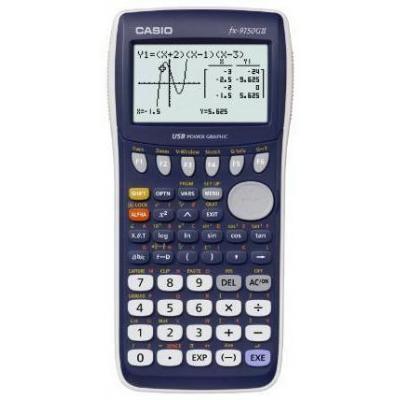 Casio calculator: FX-9750GII - Grafische rekenmachine, 61kb - Blauw