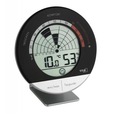 Tfa hygrometer: Digital thermo-hygrometer - Zwart, Zilver