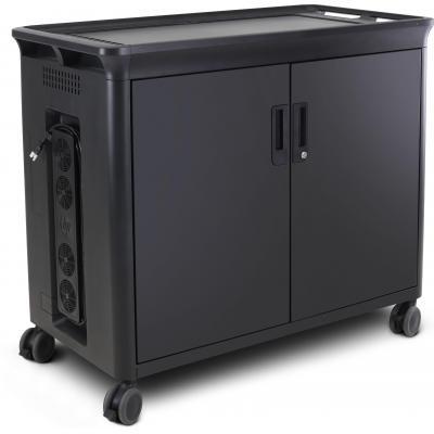 Hp multimedia kar & stand: 30 Mgd oplaadtrolley V2 - Zwart