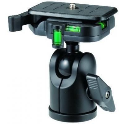 Velbon statiefkop: QHD-53D, UNC 1/4&3/8, 310g, Black - Zwart