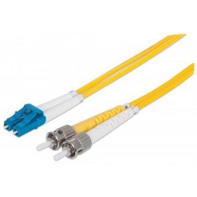 Intellinet fiber optic kabel: LC/ST, 9/125 µm, OS2, 3.0 m - Geel