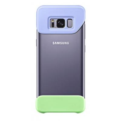 Samsung mobile phone case: Galaxy S8+ 2Piece Cover Violet - Groen, Violet