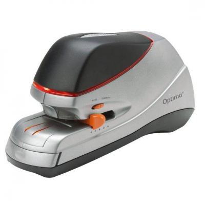 Rexel nietmachine: Optima 40 Elektrische Nietmachine Zilver/Zwart - Zwart, Oranje, Zilver