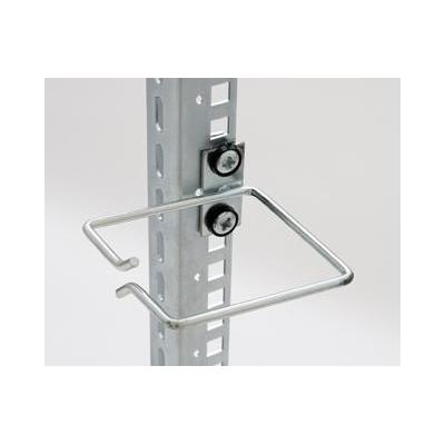 Equip kabelklem: Cable Management Ring, 40 x 40 mm, Front Opening, Central Fixing - Grijs