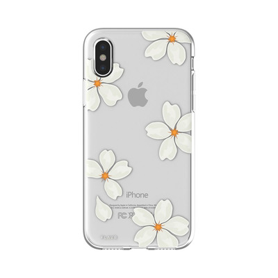 FLAVR White Petals Mobile phone case - Transparant, Wit, Geel