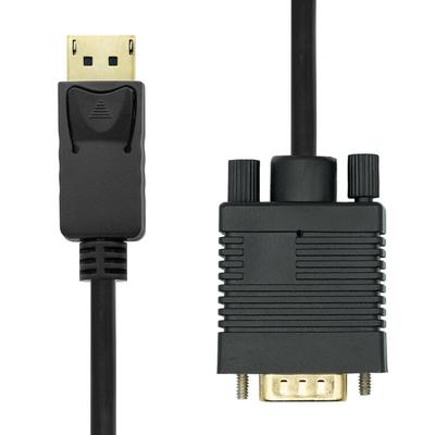 ProXtend DisplayPort Cable 1.2 to VGA 1M - Zwart