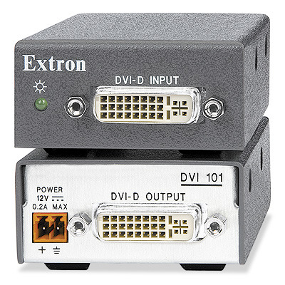 Extron DVI 101 AV extender - Zwart, Grijs