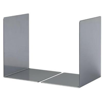 Durable boekensteun: Bookends S, grey, epoxy polyester coated steel - Grijs