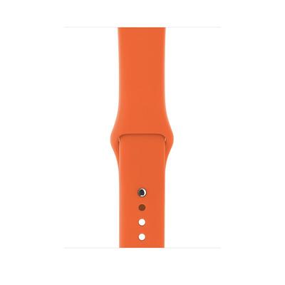 Apple horloge-band: Sportbandje - Sinaasappel (42 mm), S/M en M/L - Oranje