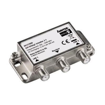 Hama low noise block downconverters: SAT DiSEqC Switch 2-1 - Roestvrijstaal