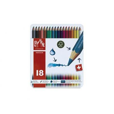 Caran d-ache potlood: Fancolor 18's - Multi kleuren, Rood, Wit