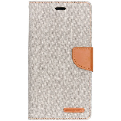 Canvas Diary Booktype Samsung Galaxy A7 (2018) - Grijs / Grey Mobile phone case