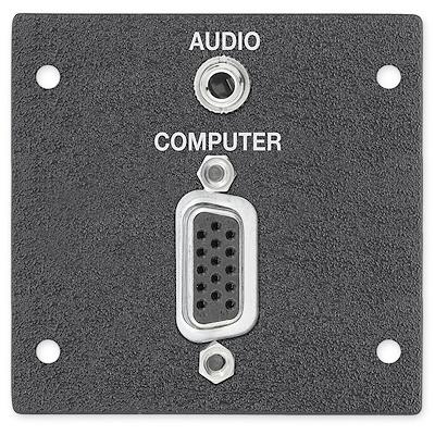 Extron 15-pin HD/3.5 mm Wandcontactdoos - Zwart