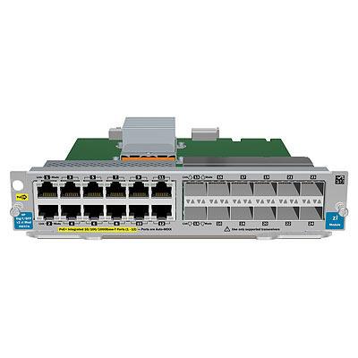 Hewlett Packard Enterprise 12-port Gig-T PoE+ / 12-port SFP v2 Netwerk switch module