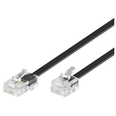Microconnect MPK451S Telefoon kabel - Zwart