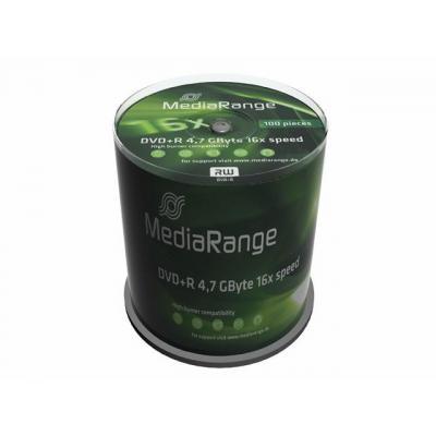 Mediarange DVD: MR443, 4,7GB, DVD+R, 16x, Cake100