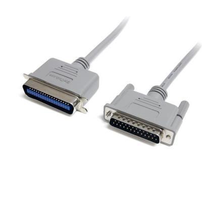 Startech.com printerkabel: 6 ft. Parallel Printer Cable - Grijs