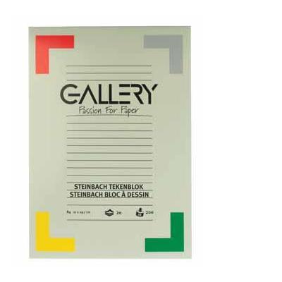 Gallery tekenpapier: BLOK STEINBACH GEKOR.DINA4 20B