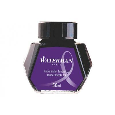 Waterman inkt: Tender Purple Ink for Fountain Pen - Zwart, Transparant