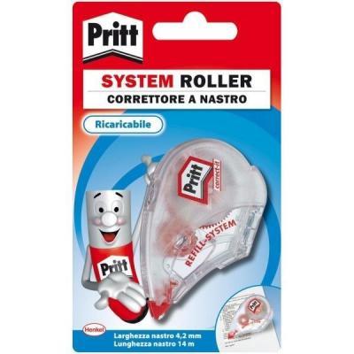Pritt film/tape correctie: System Roller 4.2mm x 14m - Rood, Wit