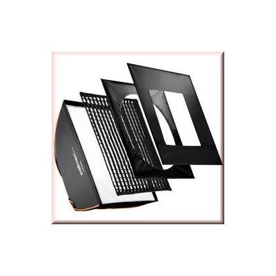 Walimex softbox: pro Softbox PLUS OL 60x60cm Visatec - Zwart, Wit