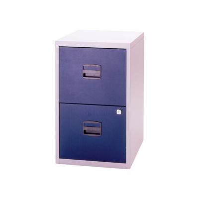 Bisley archiefkast: Ladenkast 2 x A-lade lichtgrijs/blauw