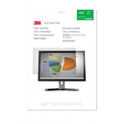 """3m screen protector: Filter anti-schittering voor breedbeeldscherm voor desktop 19"""" (16:10)"""