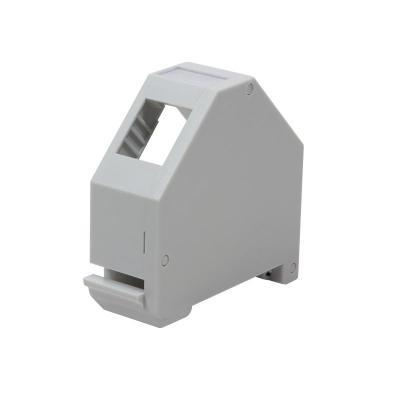 LogiLink DIN-rail adapter for RJ45 keystone jack, 1-port, plastic Patch panel accessoire - Grijs